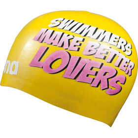 arena Poolish Moulded Swimming Cap yellow-lovers